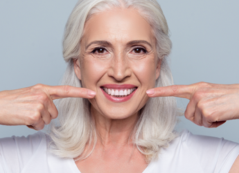 Happy Woman with Dentures